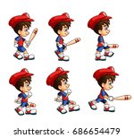 mobile game 2d assets  ... | Shutterstock .eps vector #686654479