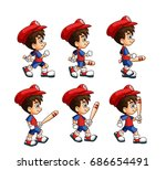 mobile game 2d assets  ... | Shutterstock .eps vector #686654491
