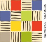 seamless mosaic pattern.... | Shutterstock .eps vector #686655385
