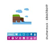 cliffs of moher vector icon | Shutterstock .eps vector #686658649