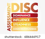 disc  dominance  influence ... | Shutterstock .eps vector #686666917
