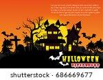 halloween vector background. | Shutterstock .eps vector #686669677