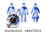 abstract people made of... | Shutterstock . vector #686670241