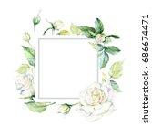 wildflower rosa flower farme in ... | Shutterstock . vector #686674471