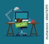 cool flat vector design concept ... | Shutterstock .eps vector #686676595