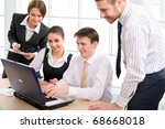 business people in a work... | Shutterstock . vector #68668018