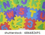 rubber mat with colorful... | Shutterstock . vector #686682691