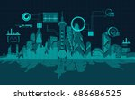 abstract technology background  ... | Shutterstock .eps vector #686686525