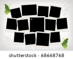 frames collage with butterfly... | Shutterstock .eps vector #68668768