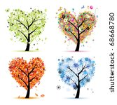 four seasons   spring  summer ... | Shutterstock .eps vector #68668780
