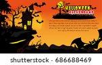 halloween vector background. | Shutterstock .eps vector #686688469