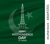 14 august. pakistan... | Shutterstock .eps vector #686692501