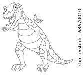 Outlined Dinosaur