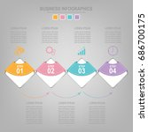 infographics template of four... | Shutterstock .eps vector #686700175