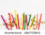 Colorful Pencils And Felt Tip...