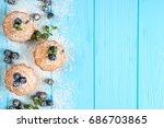 blueberry muffin. homemade...   Shutterstock . vector #686703865