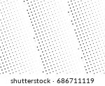 abstract halftone dotted... | Shutterstock .eps vector #686711119