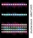 glowing concert spot light line ... | Shutterstock .eps vector #68671405