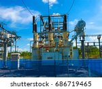 high voltage station | Shutterstock . vector #686719465