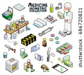 medical items collection ... | Shutterstock .eps vector #686720821