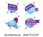colorful shopping sale flyer... | Shutterstock .eps vector #686721229