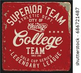 vintage varsity graphics and... | Shutterstock .eps vector #686721487