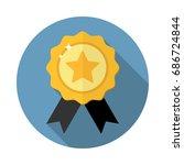 award medal icon winner emblem...   Shutterstock .eps vector #686724844