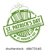 green grunge rubber stamp with... | Shutterstock .eps vector #68673160