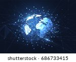 global network connection.... | Shutterstock .eps vector #686733415