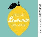 lemonade poster | Shutterstock . vector #686733541