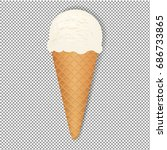 ice cream with transparent ... | Shutterstock . vector #686733865