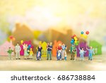 miniature people  family and... | Shutterstock . vector #686738884