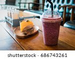 healthy smoothies cup for... | Shutterstock . vector #686743261