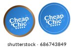 cheap   chic stickers | Shutterstock .eps vector #686743849