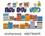 real estate | Shutterstock .eps vector #686746645