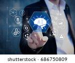 ai artificial intelligence... | Shutterstock . vector #686750809