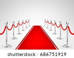 realistic vector red event... | Shutterstock .eps vector #686751919