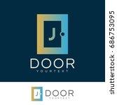 door initial letter j logo... | Shutterstock .eps vector #686753095