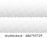 abstract halftone dotted... | Shutterstock .eps vector #686755729