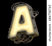 light metal board with wires... | Shutterstock . vector #686758765