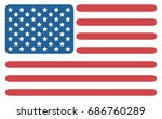 vector abstract american flag.... | Shutterstock .eps vector #686760289