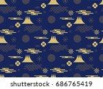 beautiful japanese seamless ...   Shutterstock .eps vector #686765419