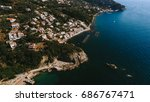 the coastline of italy is from... | Shutterstock . vector #686767471