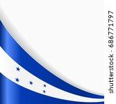 honduras flag wavy abstract... | Shutterstock .eps vector #686771797