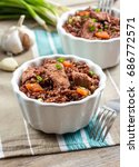 healthy food concept  red rice... | Shutterstock . vector #686772571