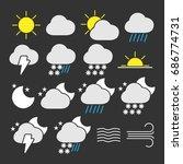 vector image of set of weather...   Shutterstock .eps vector #686774731