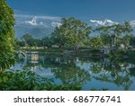 pokhara city  nepal october 16  ... | Shutterstock . vector #686776741