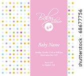 baby girl shower invitation ... | Shutterstock .eps vector #68677756