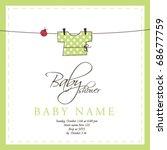 baby shower invitation template ... | Shutterstock .eps vector #68677759
