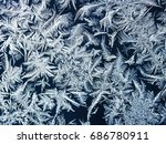 blue ornate festive frosty...   Shutterstock . vector #686780911